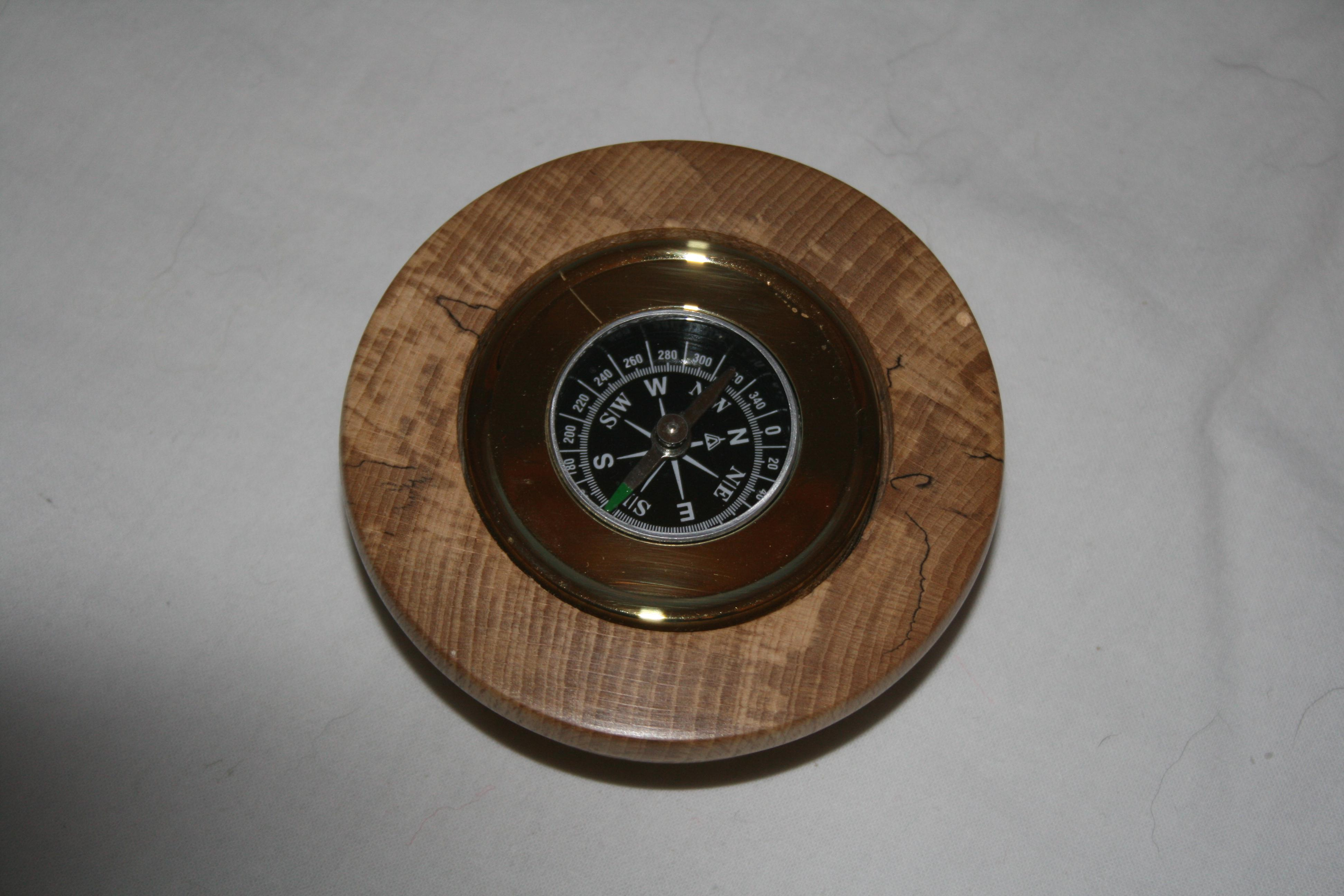 Compass in a Spalted Beech surround
