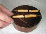 Pair of Cigar roller ball pen and pencil set in Cherry wood and 24carat Gold plated trimmings